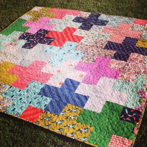 Cotton and Steel plus quilt