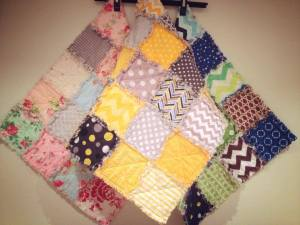 3 rag quilts for newborn photo shoots