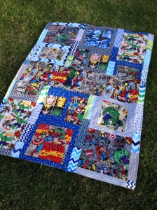 Marvel throw quilt