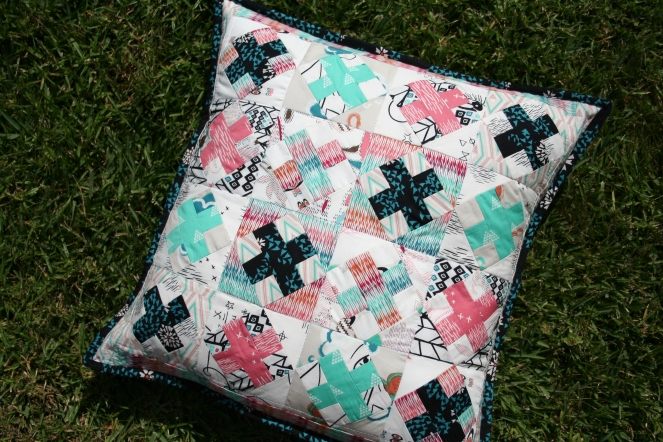 Raspberry Kisses cushion cover