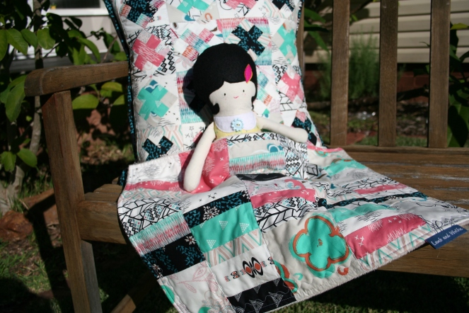 Cushion and doll blanket